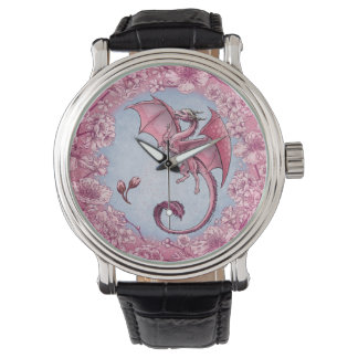Pink Dragon of Spring Nature Fantasy Art Watch