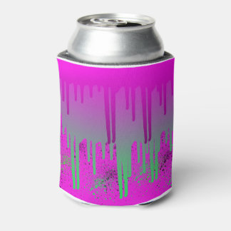 Pink Drippin' Paint Can Cooler