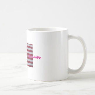 Pink  e pluribus unum coffee mug