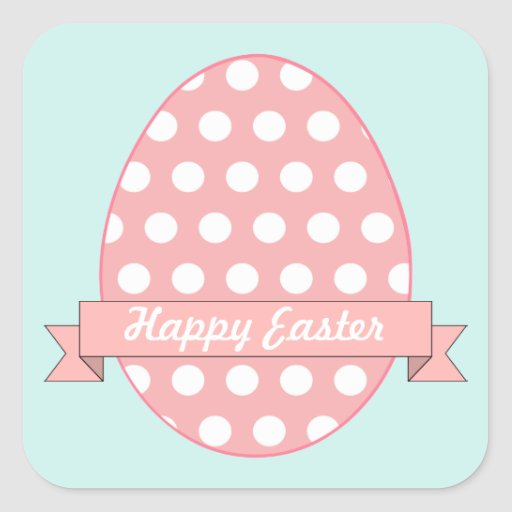 Pink Easter Egg Stickers