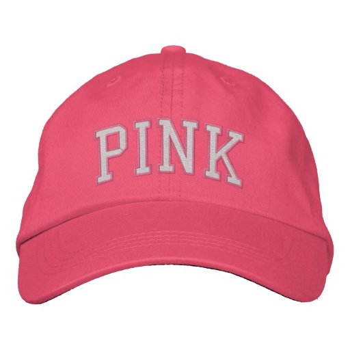 Pink Embroidered Baseball Caps