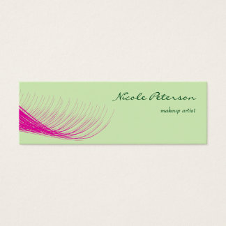 Pink Eyelash Makeup Artist Mini Business Card