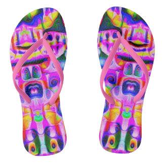 Pink Faced Flip Flops