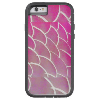 Pink fish scale phone case