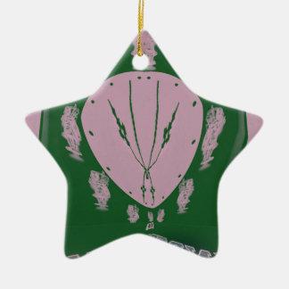 Pink Flag Ceramic Star Decoration