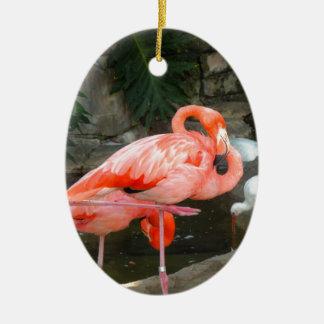 Pink Flamingo Christmas Ornament