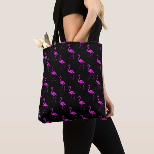 Pink Flamingos B Tote Bag