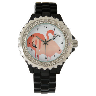 Pink Flamingos Beach Wedding Watch
