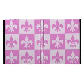 Pink Fleur de lis iPad Cases