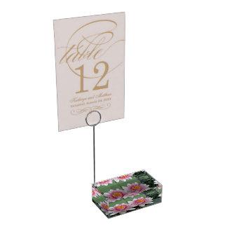 Pink Floating Waterlily Lotus Card Holder
