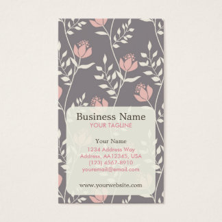 Pink Floral Pattern Appointment Business Card