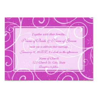 Pink Floral Photo Wedding Invitation Cards