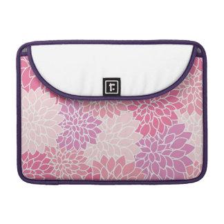 Pink Floral Print Macbook Pro Sleeve