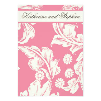 pink floral wedding anniversary card