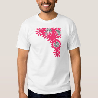 Pink flower boarder shirts