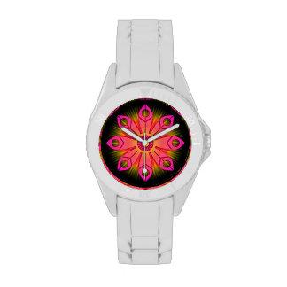 Pink Flower Burst Wristwatch