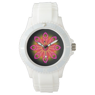 Pink Flower Burst Wristwatch