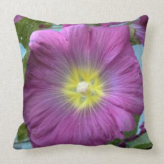 Pink Flower Close Up Photo Throw Pillow