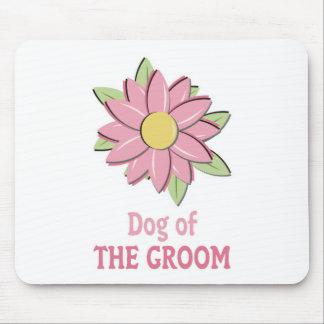 Pink Flower Groom Dog Mouse Pad