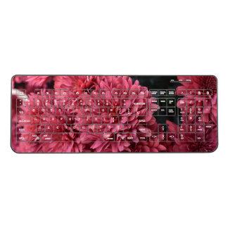 pink flower keyboard