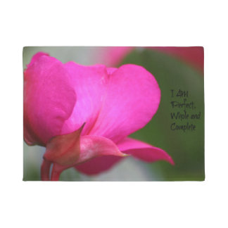 Pink Flower Perfect Whole and Complete Door Mat