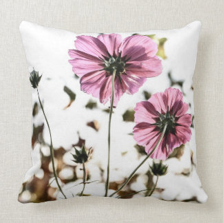 Pink Flower Photography Vintage Floral Cushion