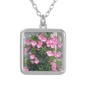 PINK Flower sensual romantic colorful lowprice fun Necklace