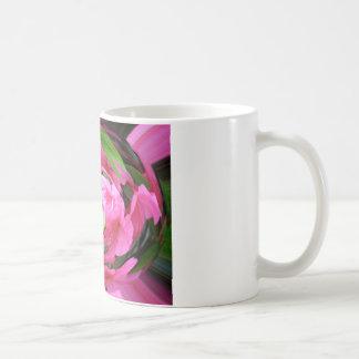 Pink Flower with Green Leaf Coffee Mug
