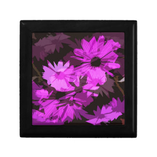 Pink Flowers Abstract Gift Box
