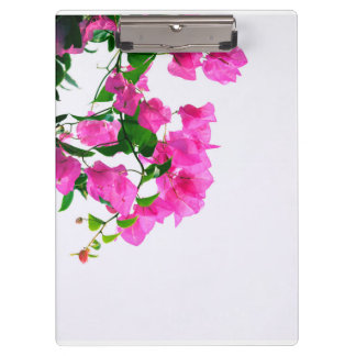 pink flowers clipboard