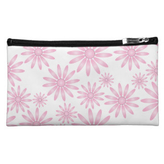 Pink Flowers Cosmetics Bags