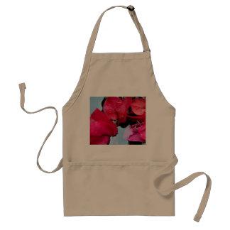 Pink flowers in water standard apron