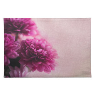 Pink flowers placemat