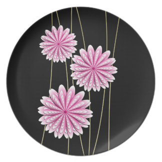 Pink Flowers Zen Plate