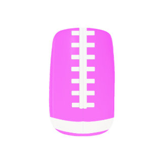 Pink Football Fingernail Art Wraps Nails Stickers