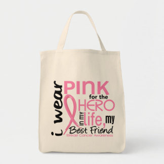 Pink For Hero In Life 2 Best Friend Breast Cancer Tote Bag