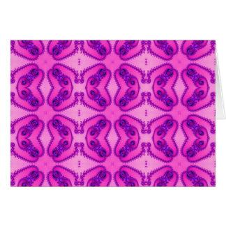Pink fractal butterflies Note Cards
