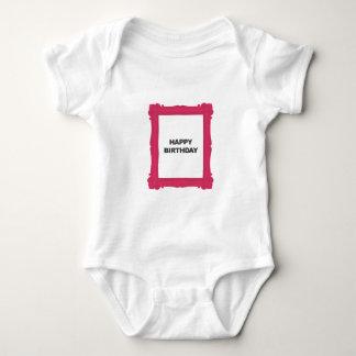 Pink Frame Happy Birthday Tee Shirt