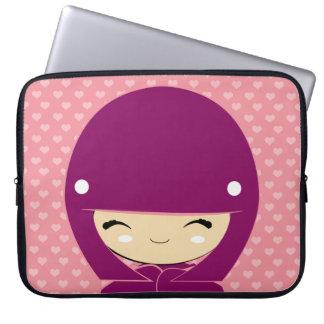 pink fraud computer sleeves