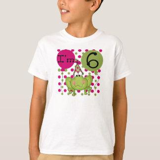Pink Frog 6th Birthday T-Shirt