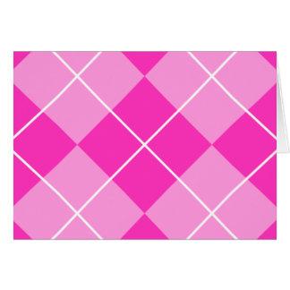 Pink & Fuschia Argyle Card