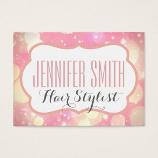 Pink Glamour Hairdresser Salon Appointment Business Card