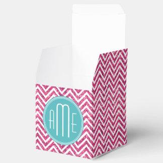Pink Glitter and Mint Custom Monogram Favour Box