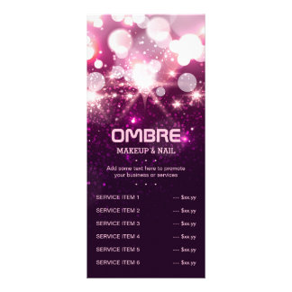 Pink Glitter Sparkles - Price Service List Menu Personalized Rack Card