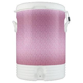 Pink Glittery Gradient Drinks Cooler