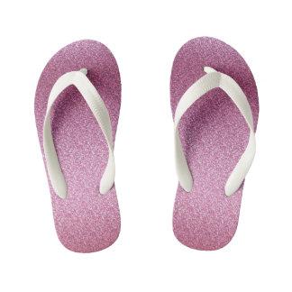 Pink Glittery Gradient Kid's Jandals