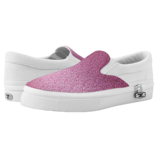 Pink Glittery Gradient Slip-On Shoes