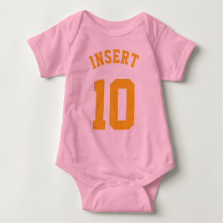 Pink & Gold Baby | Sports Jersey Design Baby Bodysuit
