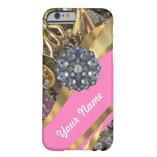 Pink & gold bling barely there iPhone 6 case