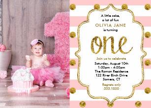 1st Birthday Invitations Zazzle Co Nz
